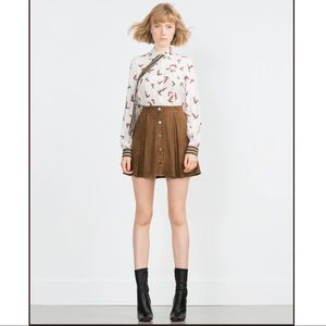 Zara Faux Suede Skirt LARGE